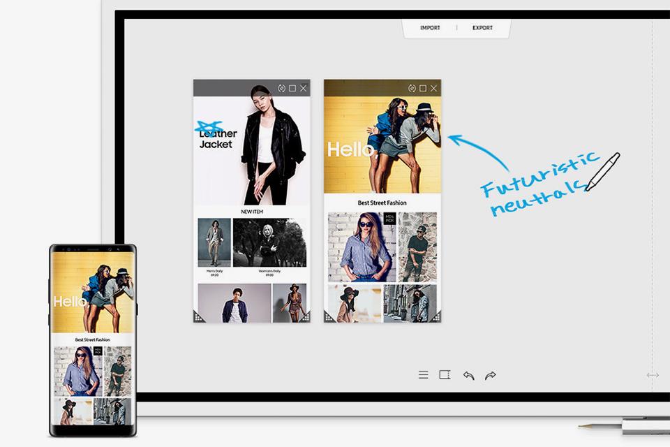 Samsung Flip Przechwytywanie Wyświetlaj i korzystaj razem z innymi!